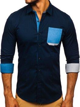 Сорочка чоловіча N. Men 7192 темно-синя