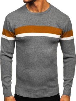 Сірий чоловічий светр Bolf H2072