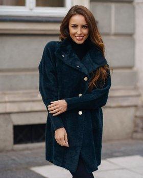 Темно-зелене жіноче пальто Bolf 7118-1