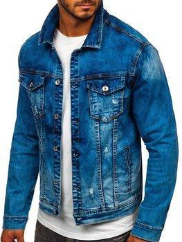 Темно-синя джинсова чоловіча куртка Bolf XSF78271