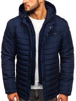 Темно-синя чоловіча зимова куртка Bolf 1675