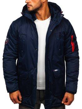 Темно-синя чоловіча зимова куртка Bolf HY827