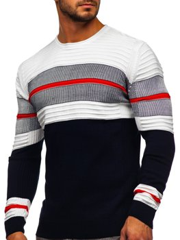 Темно-синій чоловічий светр Bolf 1058