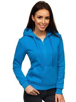 Толстовка жіноча з капюшоном світло-блакитна Bolf WB1005