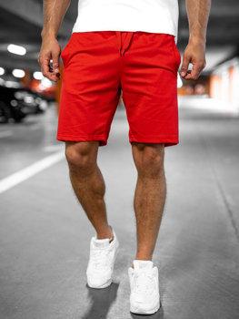 Червоні чоловічі спортивні шорти Bolf K10003