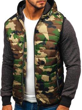Чоловіча демісезонна куртка камуфляж-біла Bolf 3757