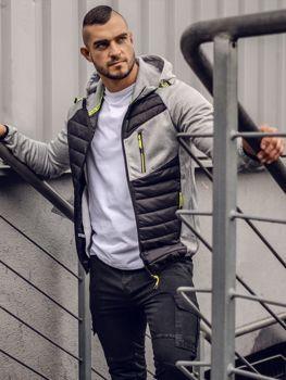 Чоловіча демісезонна спортивна куртка сіра Ks1893