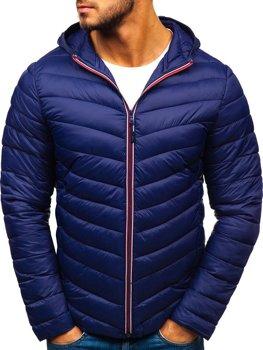 Чоловіча демісезонна спортивна куртка темно-синя Bolf LY1016
