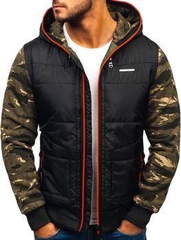 Чоловіча демісезонна спортивна куртка чорно-червона Bolf 3756-A