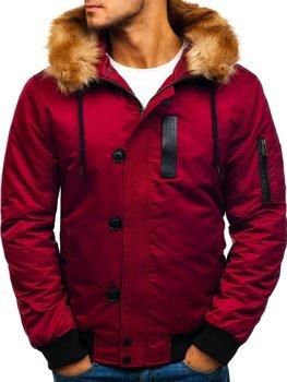 Чоловіча зимова куртка бордова Bolf 1826