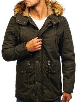 Чоловіча зимова куртка парка хакі Bolf 5810
