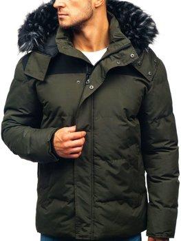 Чоловіча зимова куртка хакі Bolf 201820 2e451e5d673fb