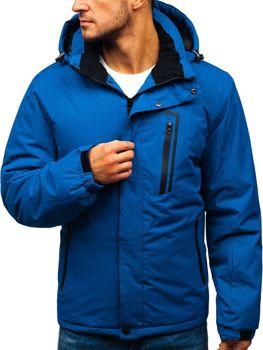 Чоловіча зимова лижна куртка синя Bolf HZ8107