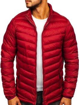 Чоловіча зимова спортивна куртка бордова Bolf SM70