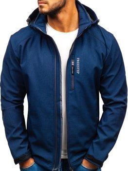 Чоловіча куртка софтшелл темно-синя Bolf AB151