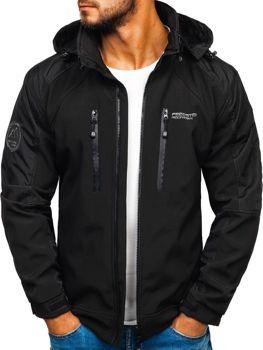 Чоловіча куртка софтшелл чорна Bolf P06