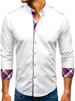 Чоловіча сорочка з довгим рукавом біла Bolf 1758 4deea215ed527