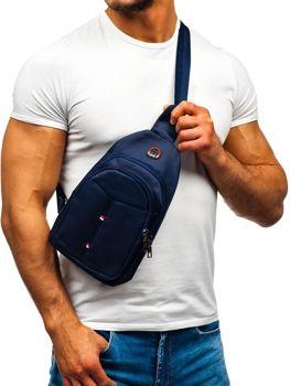 Чоловіча сумка через плече темно-синя Bolf T48