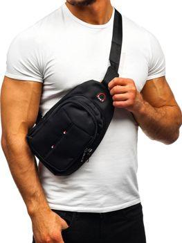 Чоловіча сумка через плече чорна Bolf T48