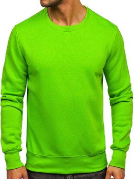 Чоловіча толстовка без капюшона Світло-зелений Bolf 2001-31