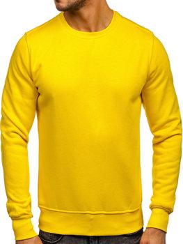 Чоловіча толстовка без капюшона жовта Bolf 2001