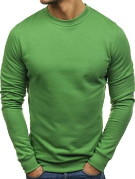 Чоловіча толстовка без капюшона зелена Bolf 01