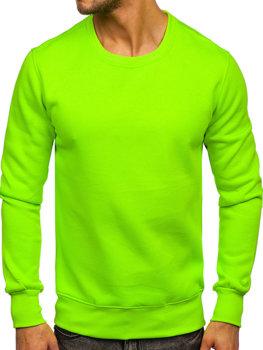 Чоловіча толстовка без капюшона зелений-неон Bolf 2001
