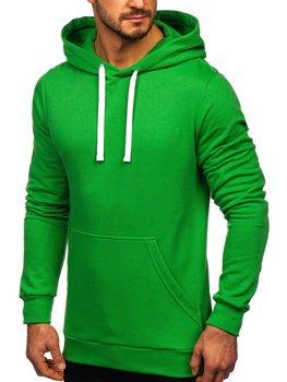 Чоловіча толстовка з капюшоном зелена Bolf 02