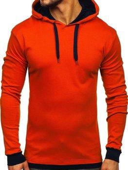 Чоловіча толстовка з капюшоном помаранчева Bolf 145380