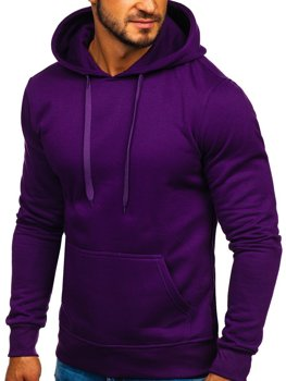 Чоловіча толстовка з капюшоном фіолетова Bolf 2009