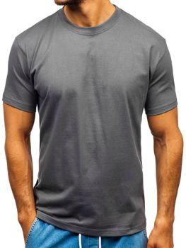 Чоловіча футболка без принта графітова Bolf T1047 dbe19a3bb3e5f