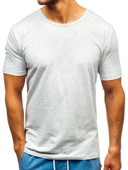Чоловіча футболка без принта сіра Bolf T1281
