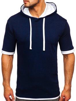 Чоловіча футболка без принта темно-синя Bolf 08