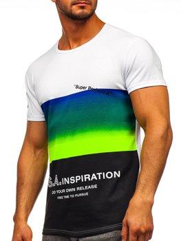 Чоловіча футболка з принтом салатова Bolf SS10919