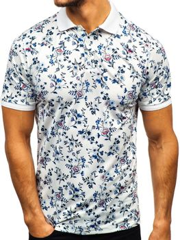 Чоловіча футболка поло біла Bolf 9022 51c38800166f6