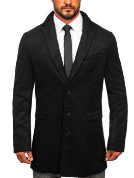 Чоловіче зимове пальто чорне Bolf 1047