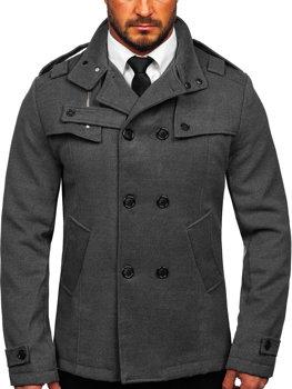 Чоловіче пальто сіре Bolf 8857
