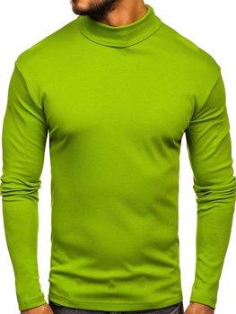 Чоловічий гольф без принта світло-зелений Bolf 145347