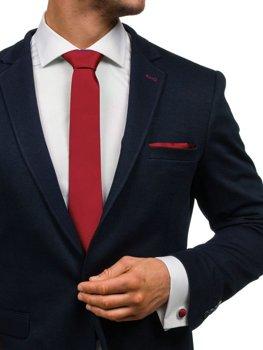 Чоловічий комплект краватка, запонки, хустинка паші бордовий Bolf KSP01