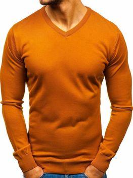 Чоловічий светр з v-подібним вирізом кемел Bolf 2200
