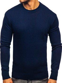 Чоловічий светр темно-синій Bolf 0001
