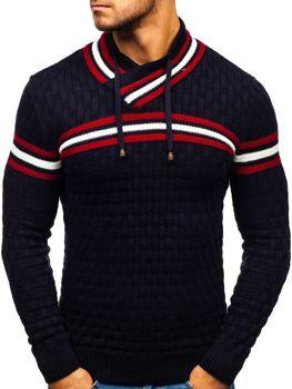 Чоловічий светр темно-синій Bolf 6006