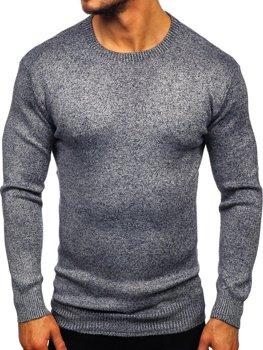 Чоловічий светр темно-синій Bolf 8529