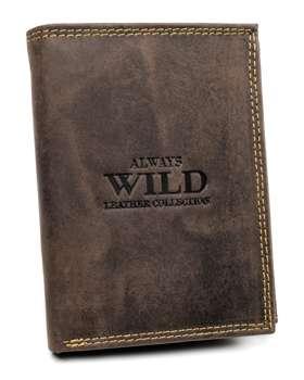 Чоловічий шкіряний гаманець коричневий 7927