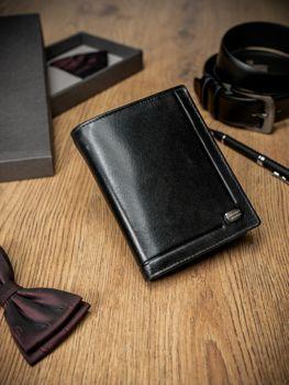 Чоловічий шкіряний гаманець чорний 170
