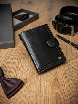 Чоловічий шкіряний гаманець чорний 212