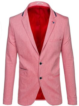 Чоловічий casual піджак червоний Bolf 0134