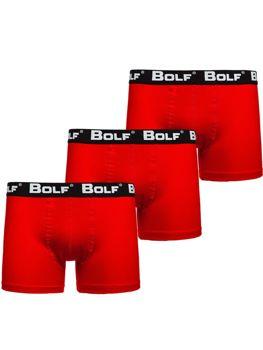 Чоловічі боксери червоні Bolf 0953-3P 3 PACK