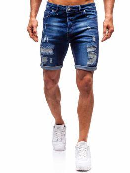 Чоловічі джинсові шорти темно-сині Bolf 1061