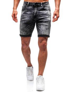 Чоловічі джинсові шорти чорні Bolf T571